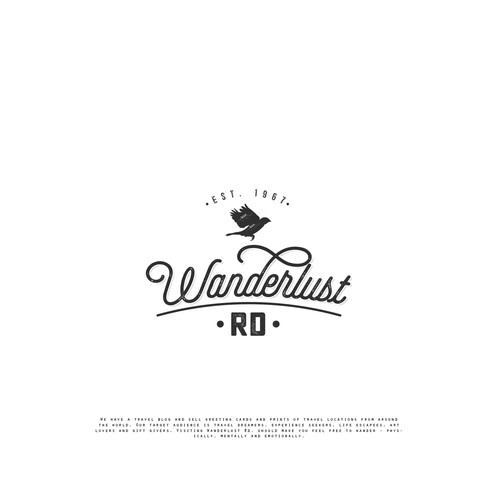 vintage logo for outdoor going photography company