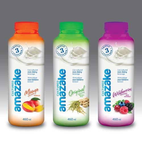Non dairy beverage label design.