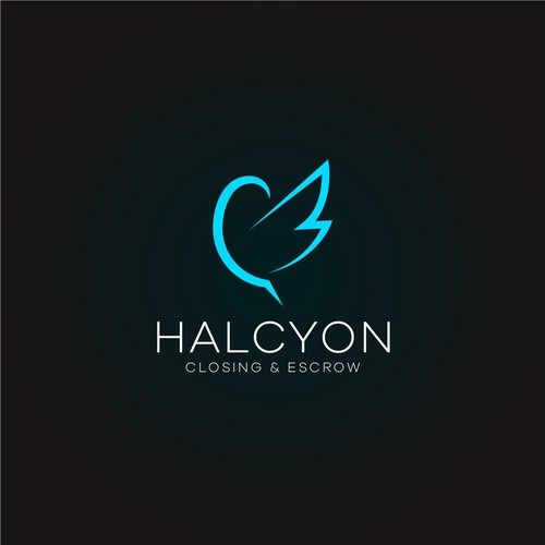 Bold Halcyon Bird logo