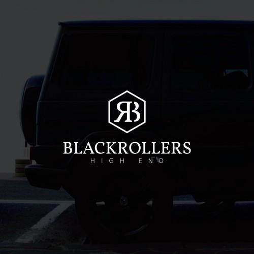 BLACKROLLERS logo design