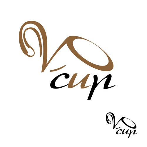 "Create the logo for a new brand ""V cup"""