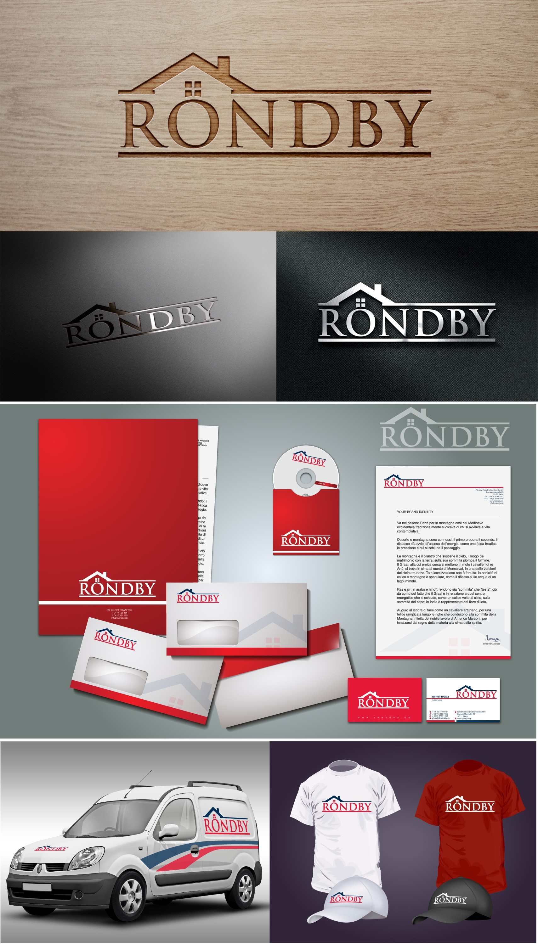 Create Logo & Corporate Identity with danish design for a house building company