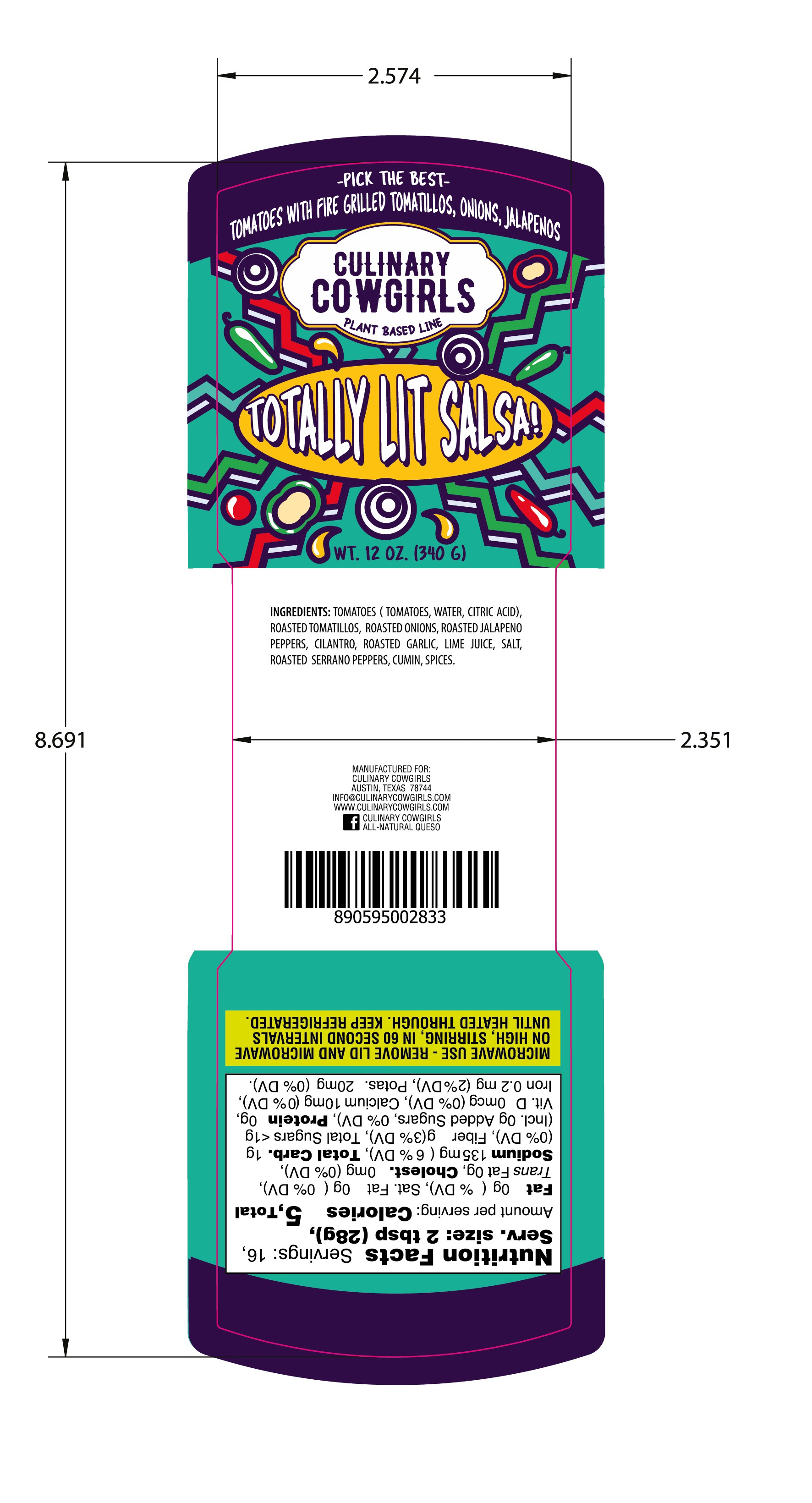 food label for national line