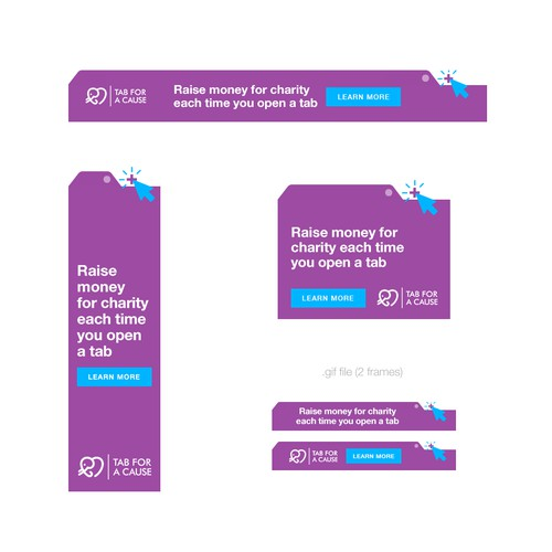 Modern, Fun Banner Ads for a Charitable Tech Company