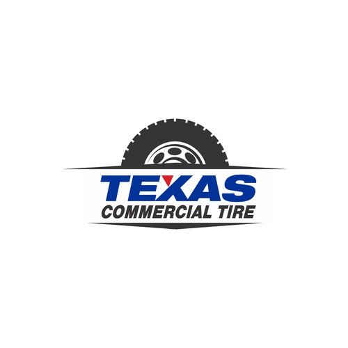 Design a classic modern logo for a Texas Tire Company