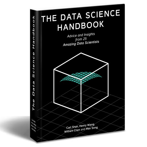 Create a professional, elegant cover of a book on data science
