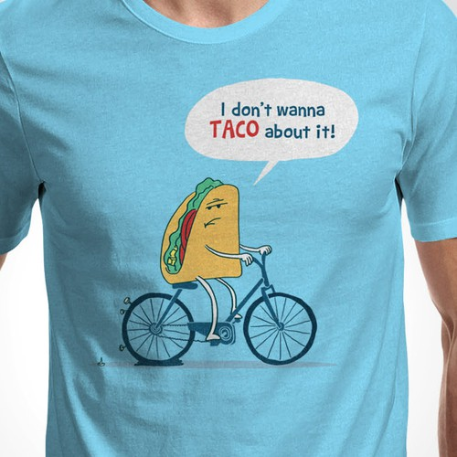 Design hip and funny hats, t-shirts using Taco references!