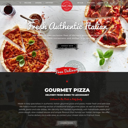 Pizza food design