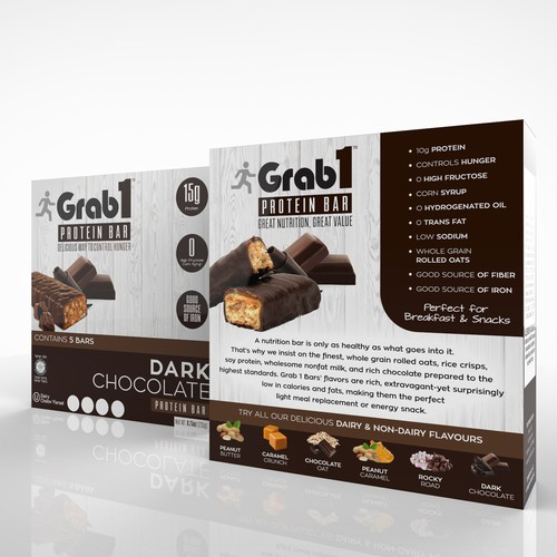 Bright and fresh concept for protein bars
