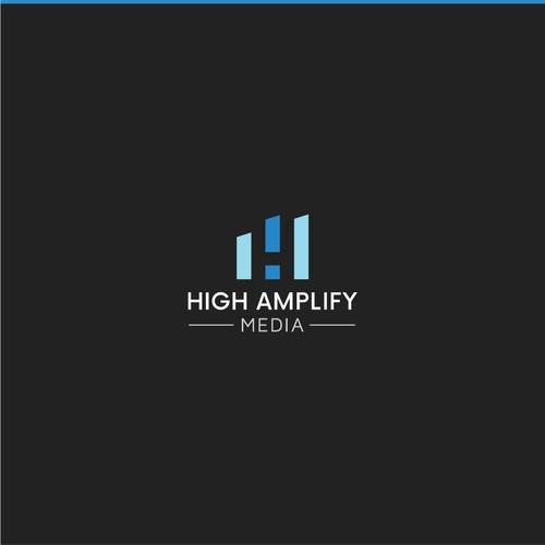 High Amplify Media logo design