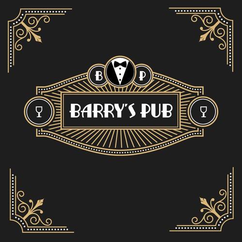 Logo concept Barrys Pub
