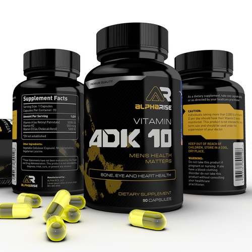 ADK 10 Vitamin Label