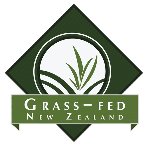 Create a Logo depicting Grass-Fed in New Zealand