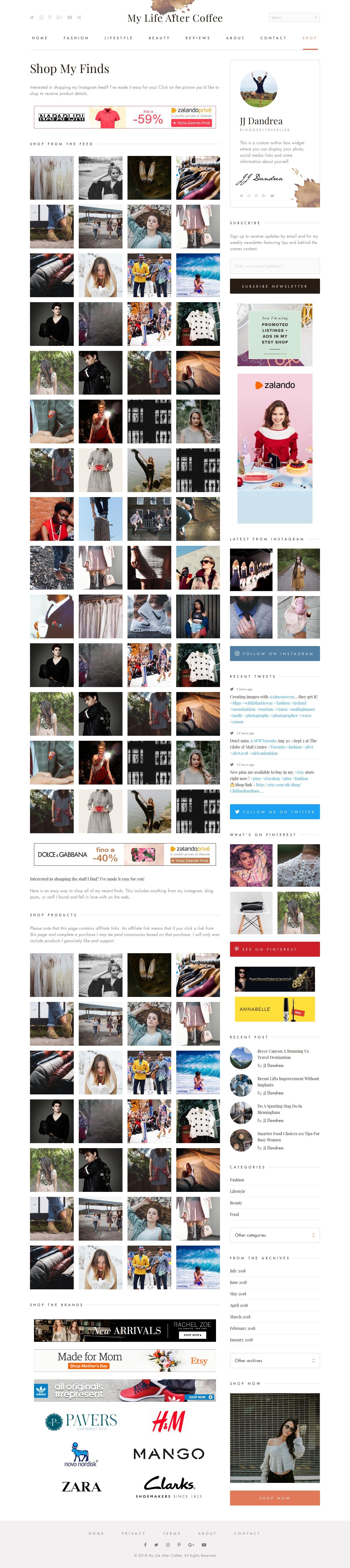 My Life After Coffee WordPress Fashion Blog Design