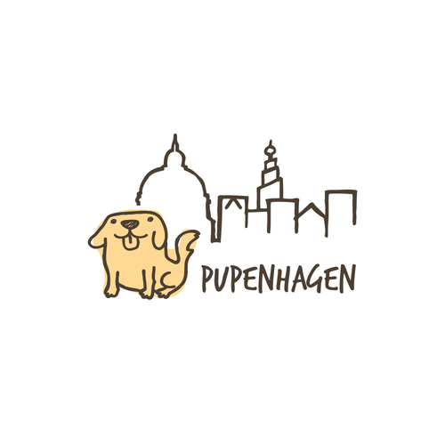 Playful pet shop logo