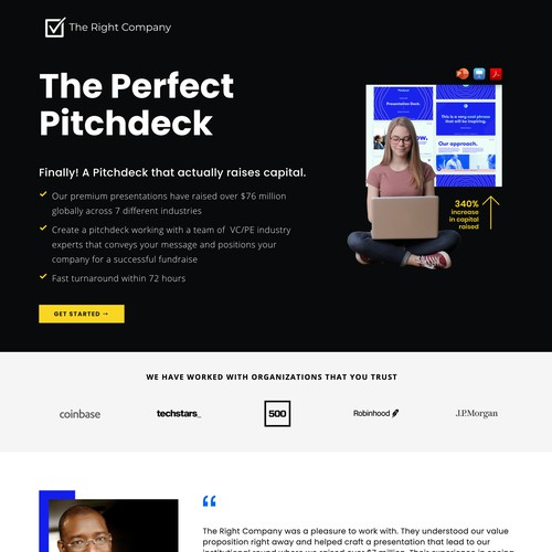 The Right Company | Website for a Digital Agency