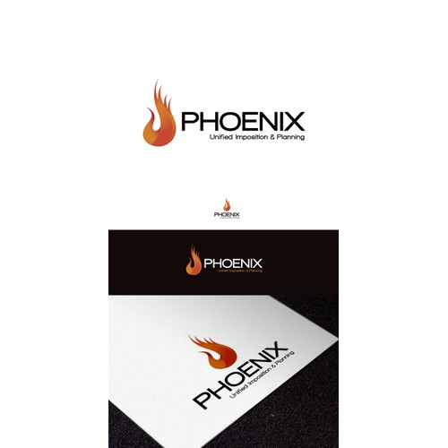 Create clean modern logo for Phoenix desktop app