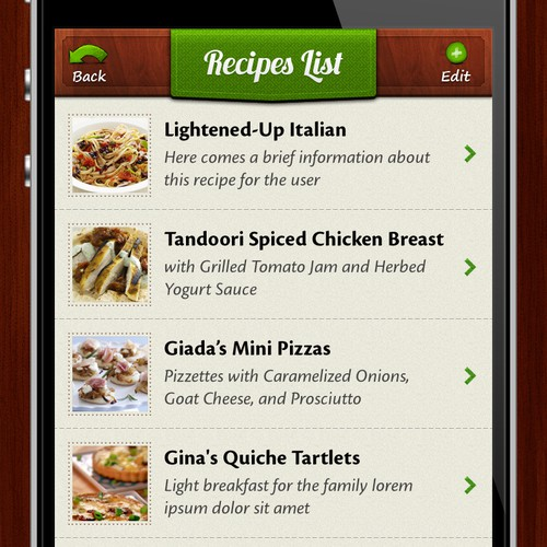Healthy and quick food recipe app DataRays
