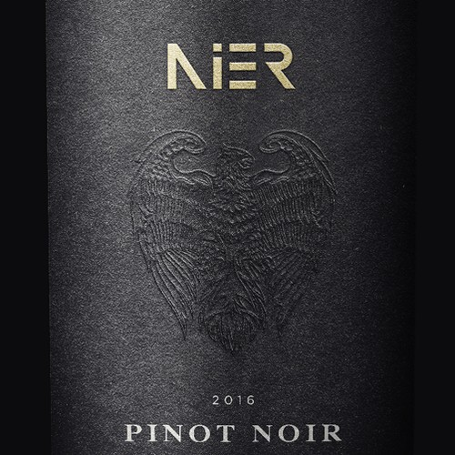 Wine label design for 'Nier', Hungarian wine