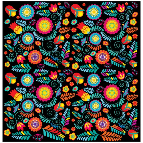 Mexican Floral Inspired Print