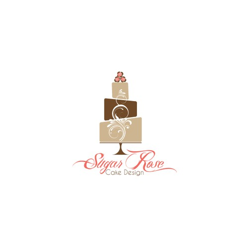 Create a luxury logo for a wedding cake company