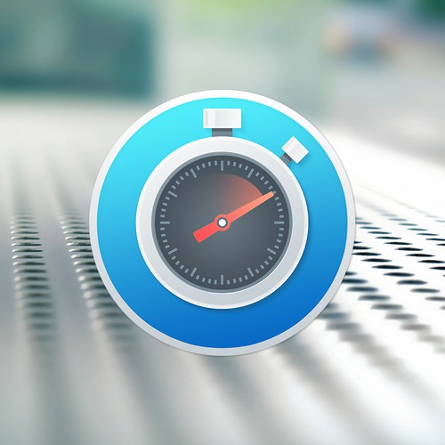 Stopwatch app icon for Mac OS X app