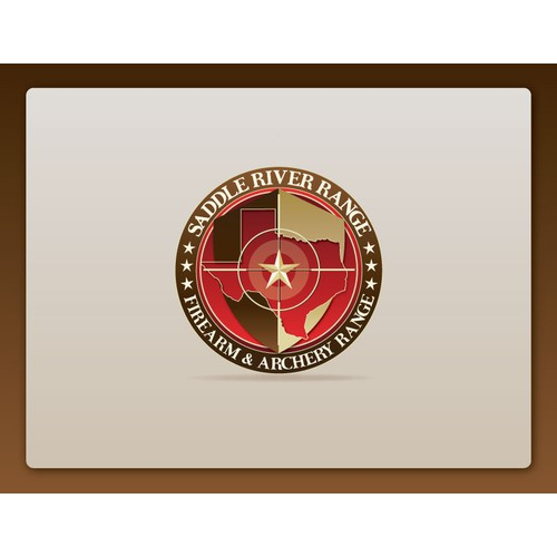 Create a logo for an upscale,  shooting range and club that captures Texas pride