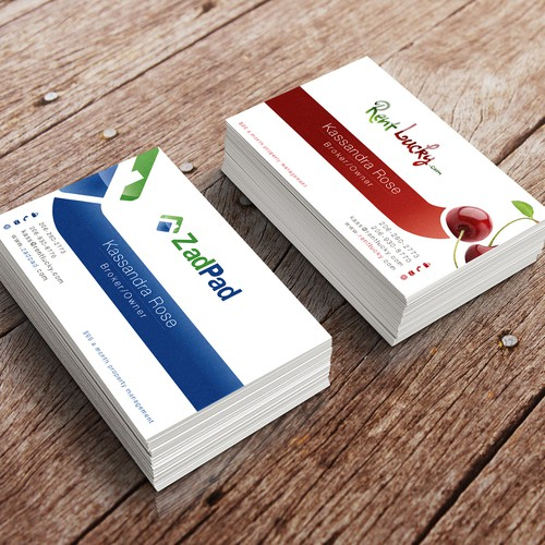 2 Brands ONE Card - Sales on one side & Rentals on the other - Get Creative!