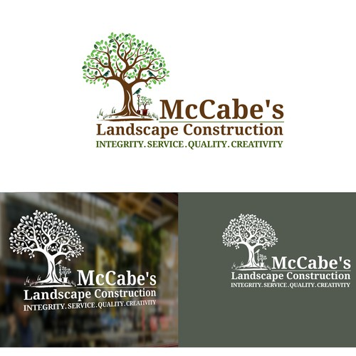 Landscape construction  Logo