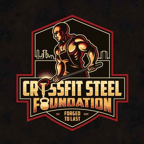 Logo for CrossFit gym with history to Steel Stacks
