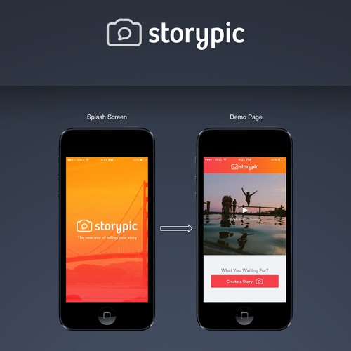 IOS app design for a picture-to-movie creator app