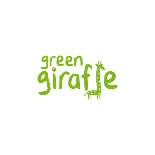 green giraffe - logo for a sustainable kidcare brand s personal