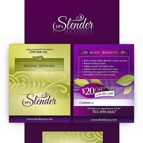 Slender-Spa Business Card