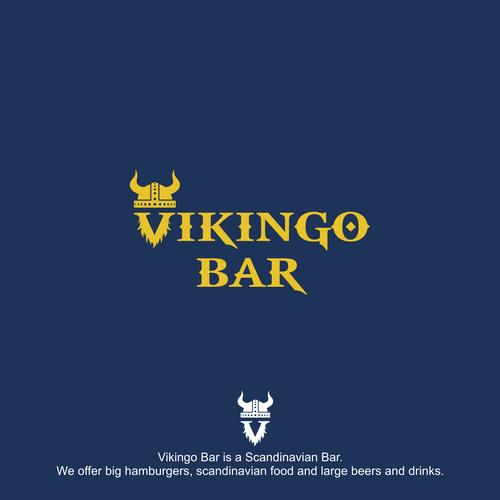 Logo for a Scandinavian Bar