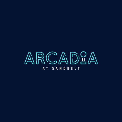 Neon Retro Logo for Arcadia