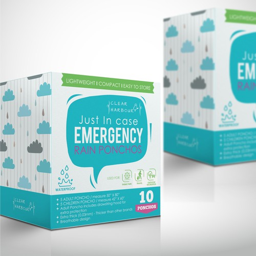 Emergency Raincoat Packaging