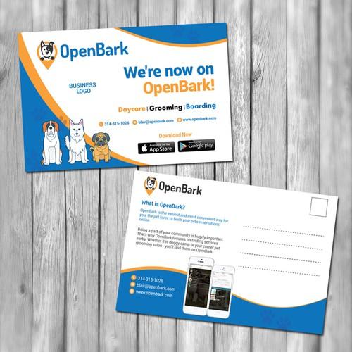 OpenBark needs postcard mailer