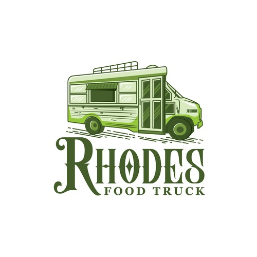Rhodes Food Truck Logo