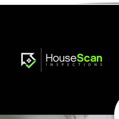 Modern home inspection company logo with focus on tech
