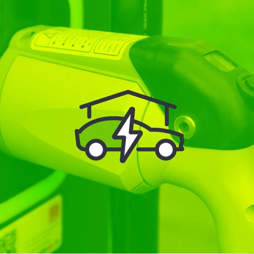 Logo for installation of electrical charging points for electric vehicles