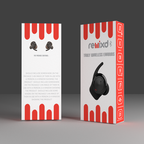 Packaging design for wireless earbuds