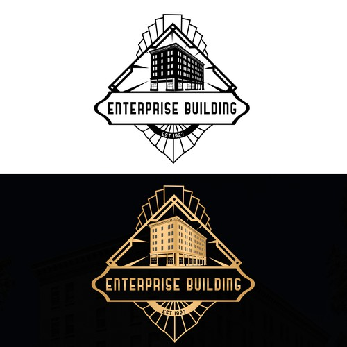 Create a classic landmark logo for The Enterprise Building