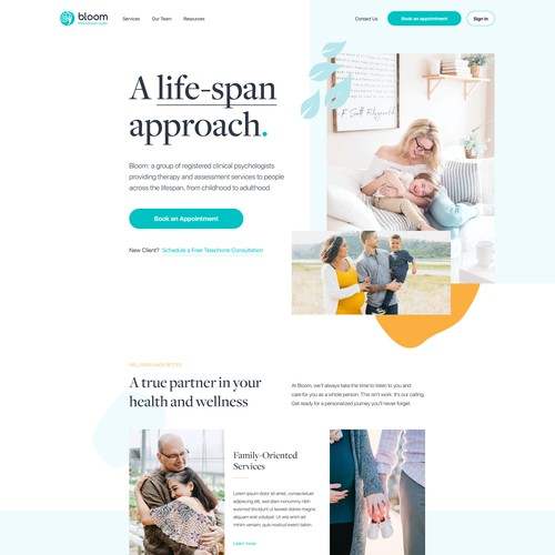 Web Design Concept for Bloom