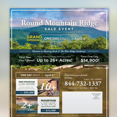 Round Mountain Ridge Flyer Design