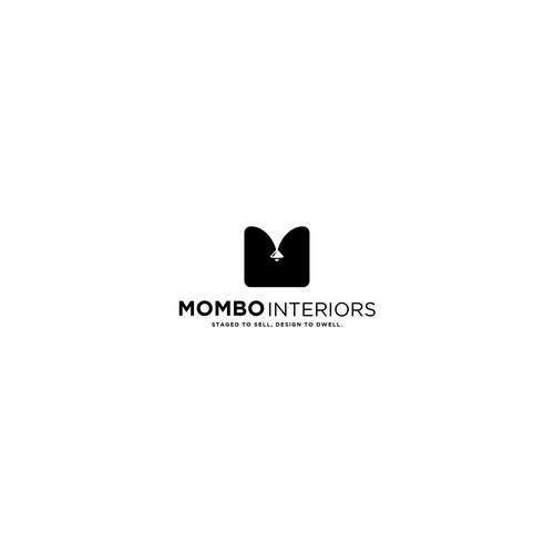 Bold logo concept for Mombo Interiors