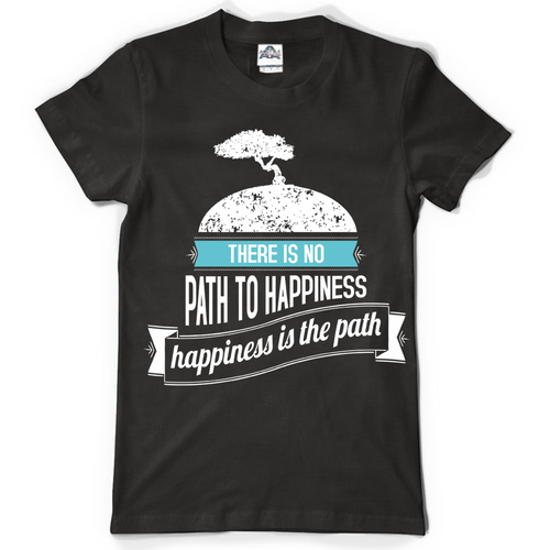 Create a cool/zen design for a tshirt with provided image and quote