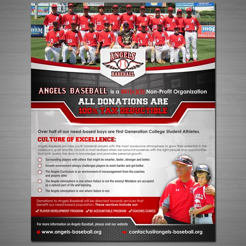 Angels Baseball: Non-Profit Flier
