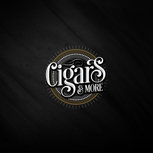 Vintage cigar bar logo
