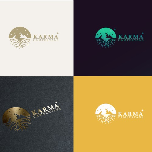 Unused Karma Campervans logotype