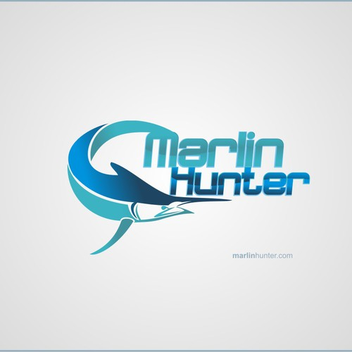 Create the next logo and business card for Marlin Hunter